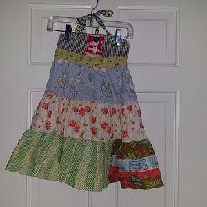 Matilda Jane Blue Raffle Ticket Ellie Tiered Dress